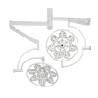 Светильник операционный потолочный «ЭМАЛЕД 500/500»