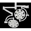 Светильник операционный потолочный «ЭМАЛЕД 500/500» - ЗЭ101